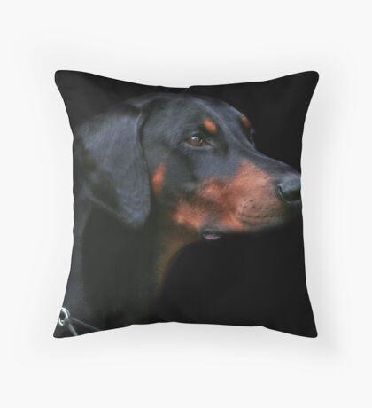 Dobermann Throw Pillow