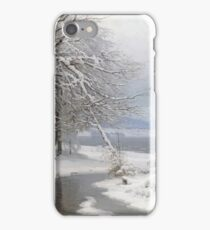 Anders Andersen - Lundby - A Wooded Winter Landscape iPhone Case/Skin