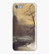 Anders Andersen - Lundby - A Winter River Landscape iPhone Case/Skin