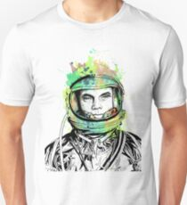 Lt. Col. John Glenn Ink + Watercolor Portrait Art Unisex T-Shirt