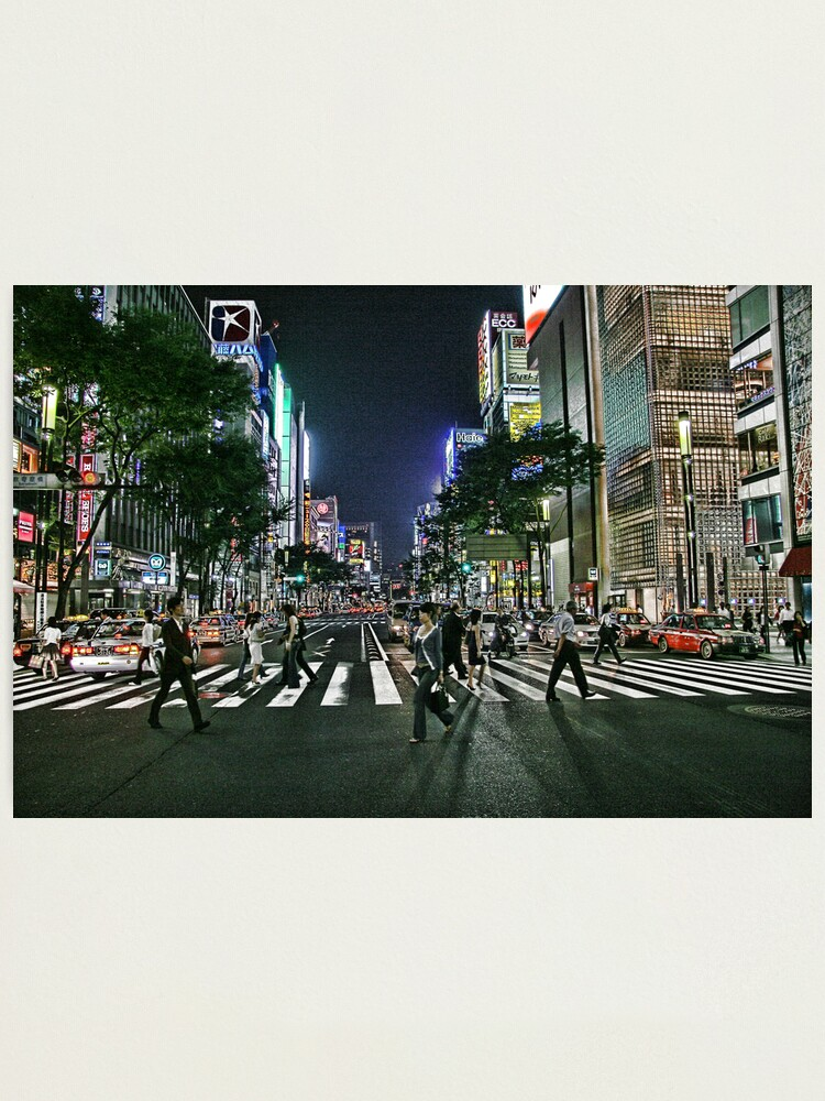 Alternate view of Tokyo - Ginza Crossing Photographic Print