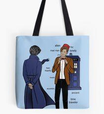 Sherlock meets the Doctor Tote Bag