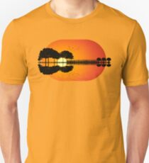 guitar island sunset iLL Unisex T-Shirt