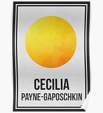 CECILIA PAYNE-GAPOSCHKIN - Women in Science Collection Poster