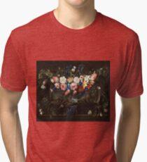 Arellano, Juan De - Garland Of Flowers With A Landscape 2 Tri-blend T-Shirt