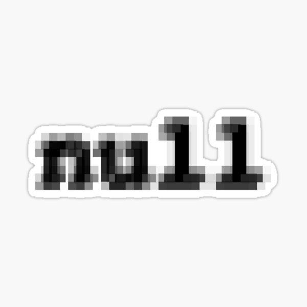 null Sticker