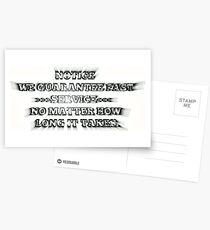SERVICE HINWEIS Postkarten