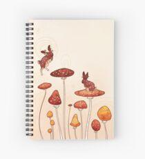 Mushroom Bunny Spiral Notebook
