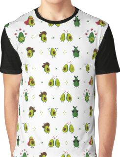 Avocado Pattern Graphic T-Shirt
