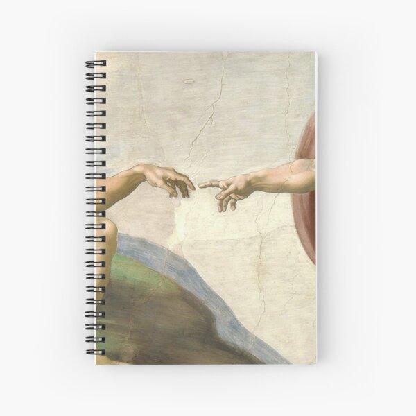 The Creation of Adam Spiral Notebook