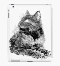 Fluffy, black and white drawing iPad Case/Skin