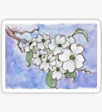 Dogwood Flowers - state flower of North Carolina & Virginia Sticker