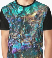 Turquoise Oil Slick Quartz Graphic T-Shirt