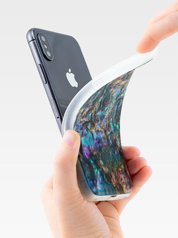 Vista alternativa de Funda y vinilo para iPhone Turquesa, aceite, pulido, cuarzo