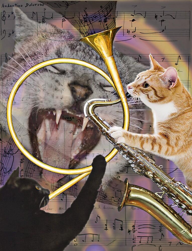Jazz Cats by chuckephoto