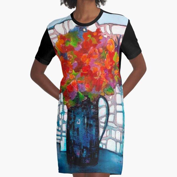 Bouquet Graphic T-Shirt Dress