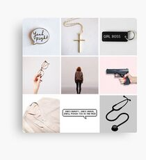 Dana Scully moodboard Canvas Print
