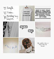 Princess Leia moodboard Photographic Print