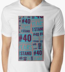 #40YEARSISTAND - (Purples & Blue) Men's V-Neck T-Shirt