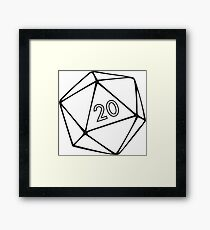 T shirt RPG Nerd Framed Print
