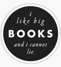Pegatina Me gustan los libros grandes