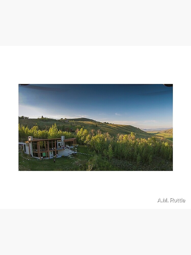 Drone Aerial of Beautiful Home Overlooking Jackson Hole by annruttle