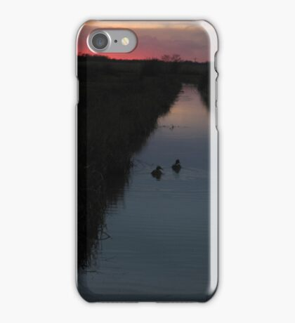 Swimming into the Sunset iPhone Case/Skin