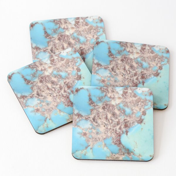 Turquoise Nugget Coasters (Set of 4)
