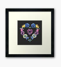 Lovely Flowers Black Framed Print