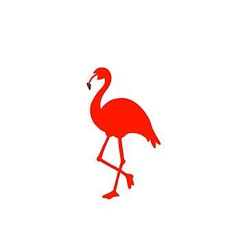 Flamenco rojo de jashirts