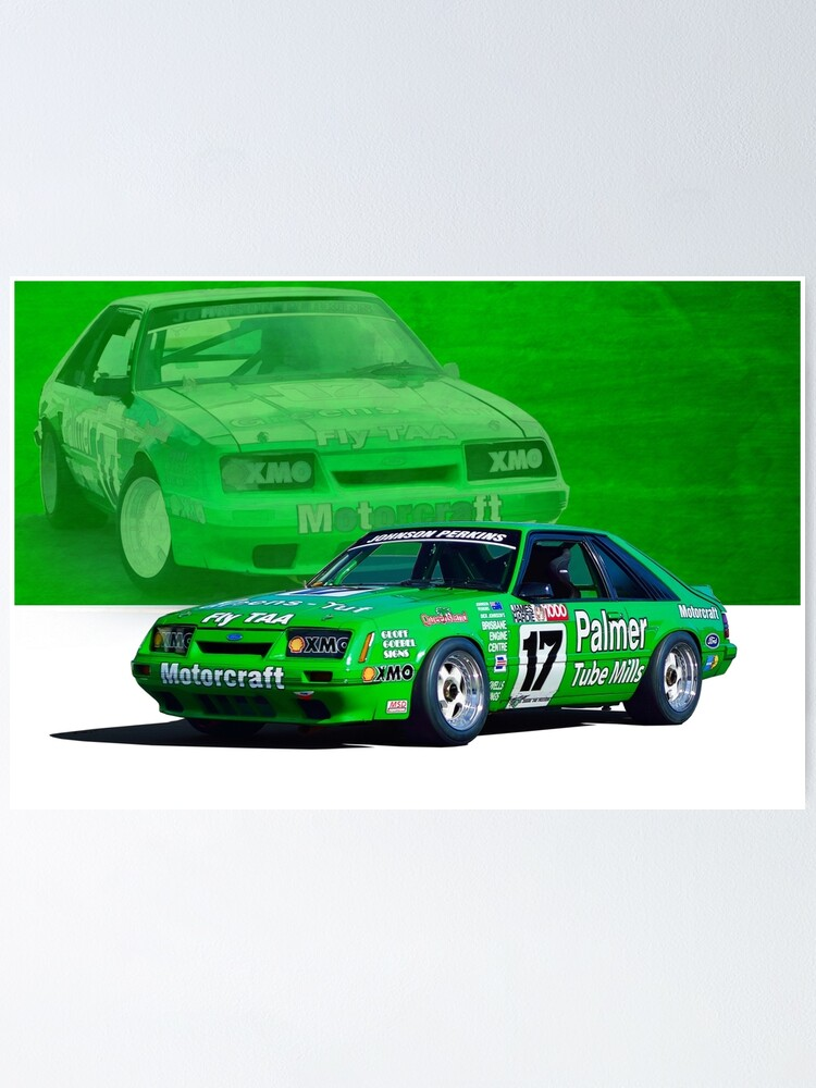 dick johnson mustang poster by stuartrow redbubble redbubble