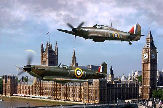 London Flyby by Bob Martin