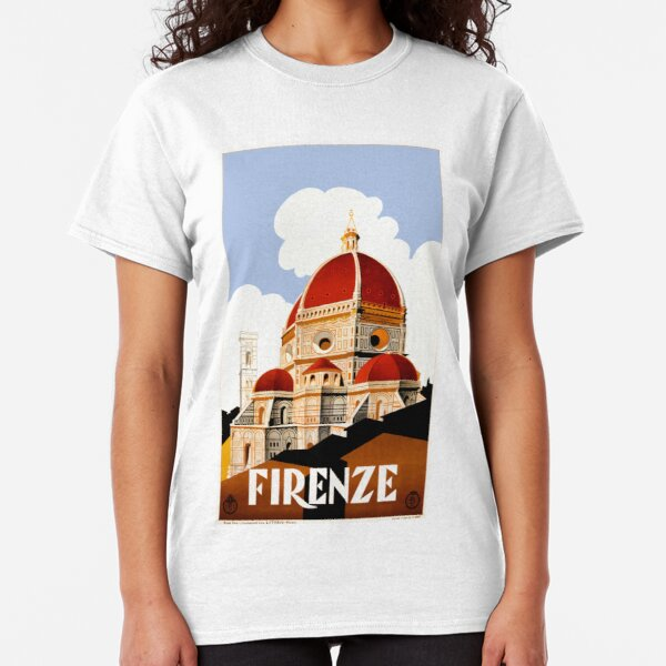 1930 Florence Italy Travel Poster Classic T-Shirt