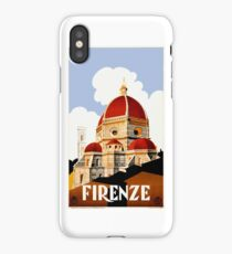 1930 Florence Italy Travel Poster iPhone Case/Skin