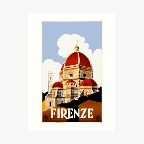 1930 Florence Italy Travel Poster Art Print