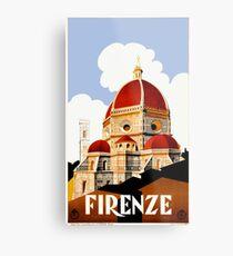 Reise-Plakat 1930 Florenz Italien Metallbild