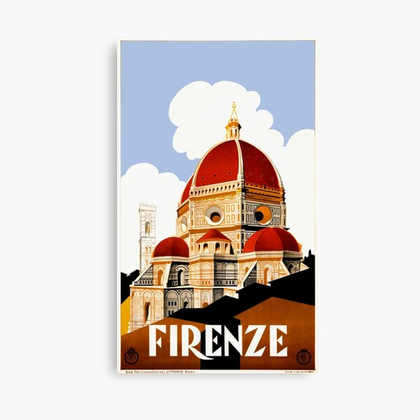 1930 Florence Italy Travel Poster Canvas Print