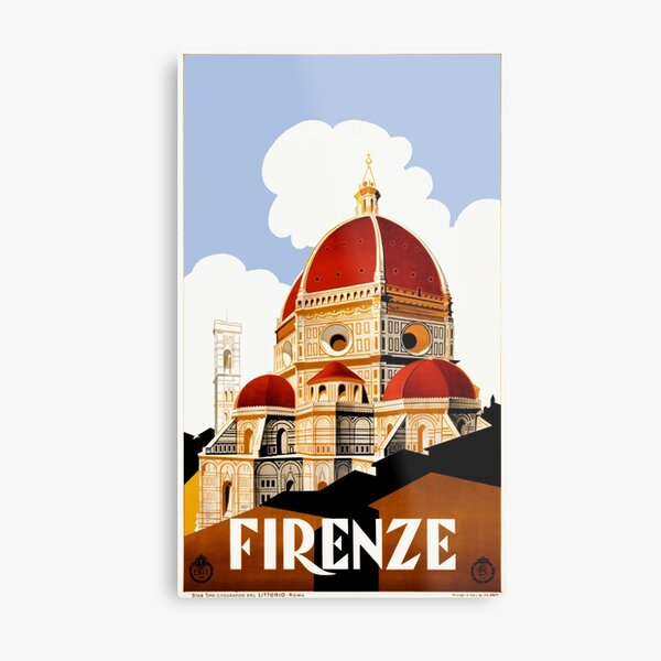 1930 Florence Italy Travel Poster Metal Print