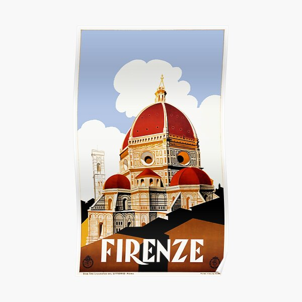 1930 Florence Italy Travel Poster Poster