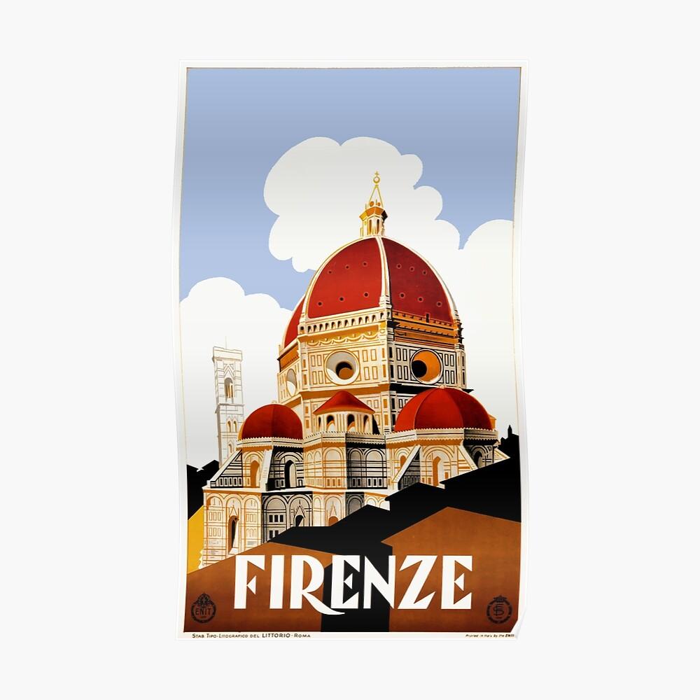 Reise-Plakat 1930 Florenz Italien Poster
