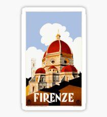 Pegatina Cartel de viaje de 1930 Florence Italy