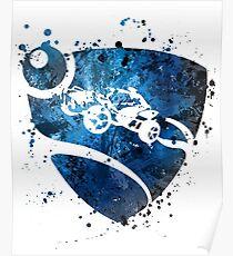 Rocket League Splatter Poster