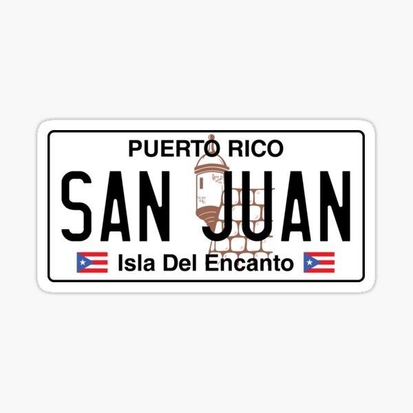 PR Plate - San Juan Sticker