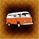New Bay Campervan Orange by Ra12