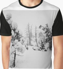 Snowstorm in the forest Graphic T-Shirt