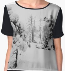 Snowstorm in the forest Chiffon Top