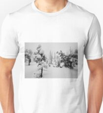 Snowstorm in the forest Unisex T-Shirt