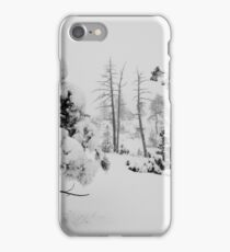 Snowstorm in the forest iPhone Case/Skin
