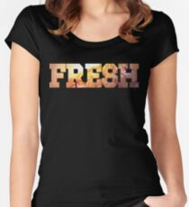 Fresh Universe | Messier 106 Women's Fitted Scoop T-Shirt