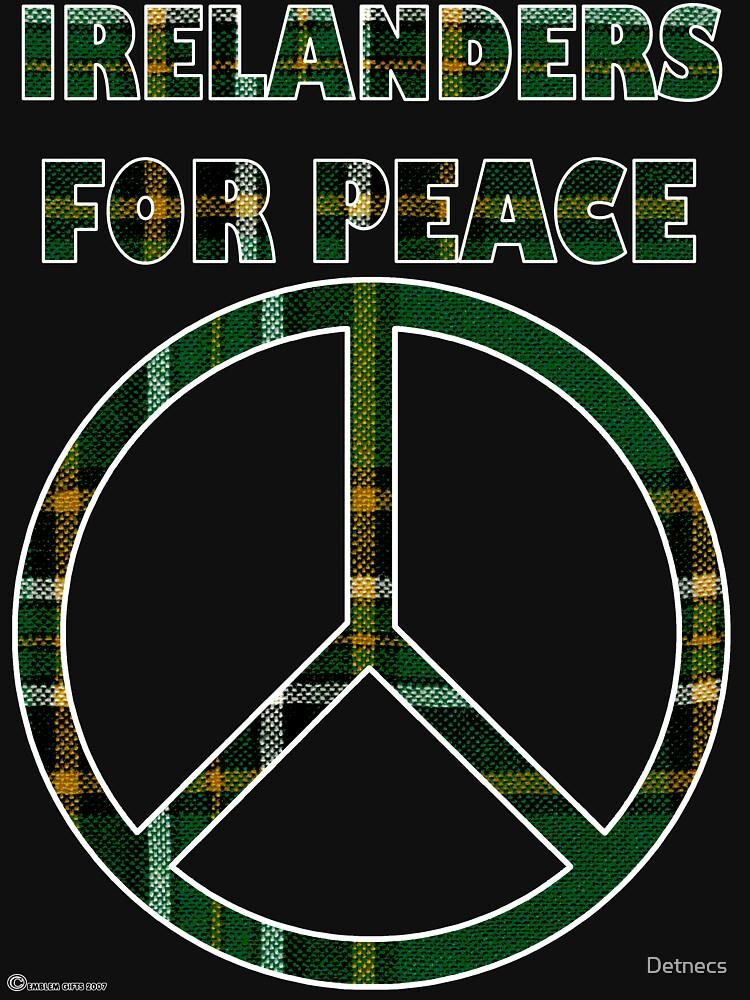 Peace for Ireland in National Tartan  by Detnecs